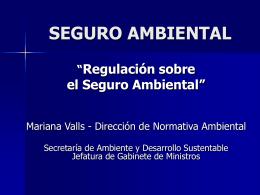 SEGURO AMBIENTAL - Secretaría de Ambiente y Desarrollo