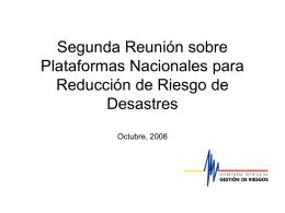 Plataforma Nacional Ecuador (in Spanish) [ppt