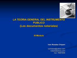 Diapositiva 1 - Notarios de Bolivia