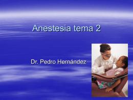 Anestesia tema 2
