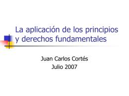 La aplicación de los principios y derechos fundamentales