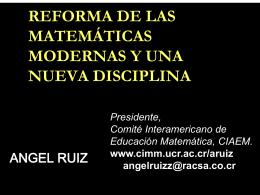 reforma de las matemáticas modernas y una nueva