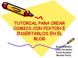 TUTORIAL PARA CREAR COMICS CON PIXTON