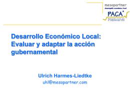 Desarrollo Económico Local - PACA