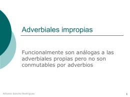 Adverbiales impropias - IES Fuente de la Peña