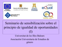 Seminario de sensibilización sobre el principio de igualdad de