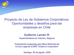 Diapositiva 1 - Superintendencia de Valores y Seguros