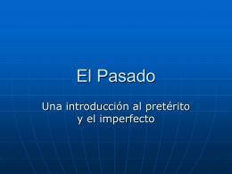 El Pasado - Espanol-con