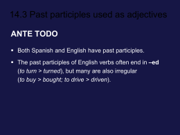 14.3 Past participles used as adjectives