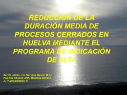 reducción de la duración media de procesos cerrados en