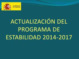 Presentación del Programa de Estabilidad 2014