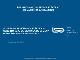 Perspectivas del Sector Eléctrico de la Región Lambayeque