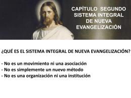 Sistema Integral de Nueva Evangelizacion