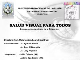 Salud Visual para Todos - Universidad Nacional de La Plata