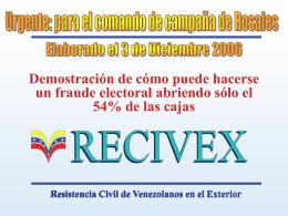 Un llamado a la Solidaridad de todos los Venezolanos