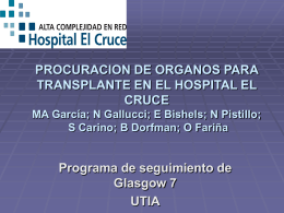 Procuracion de organos para transplante