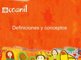 definiciones y conceptos.