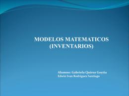 Modelo Matematico Gaby y Edwin - MM2011A