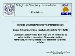Historia Universal Moderna y Contemporánea II Unidad II