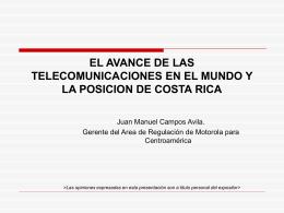 El avance de las telecomunicaciones en el mundo y la posición de