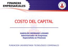 Costo del Capital - Tecnológico Comfenalco