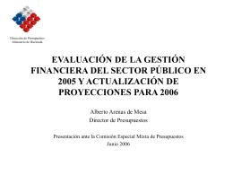 evaluación de la gestión financiera del sector público en 2005