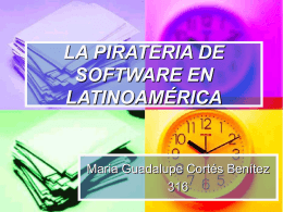 LA PIRATERIA DE SOFTWARE EN LATINOAMÉRICA