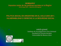 LA POLITICA SOCIAL - Fundación Polo Mercosur