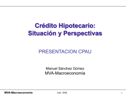 MVA-Macroeconomía - Reporte Inmobiliario
