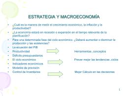 ESTRATEGIA Y MACROECONOMÍA
