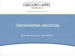 Norma 29 CFR Sección 1910,242-244