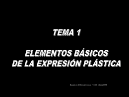 Elementos básicos de la expresión plástica