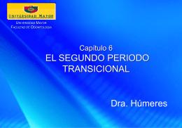Capítulo 6 El segundo periodo transicional