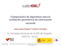 Comparación de algoritmos para la conflación geométrica de