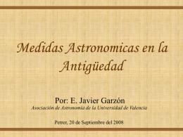 Medidas Astronómicas en la Antigüedad