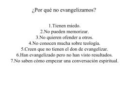 Evangelismo es tan fácil como . . .
