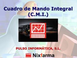 Nixfarma Cuadro de Mando Integral (CMI)