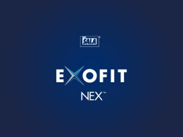 Presentación en PowerPoint de EXOFIT NEX