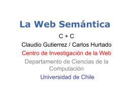 Web Semántica: Intercambio Efectivo de Información en la Web
