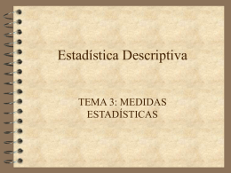 Estadística Descriptiva(Tema 3)