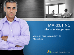 MARKETING Información general