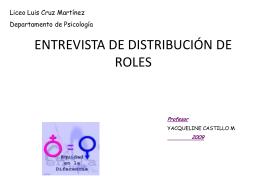 Entrevistas: Distribución de roles