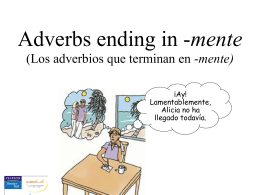 Adverbs ending in