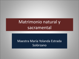 Matrimonio natural y sacramental