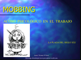 Mobbing (presentación Power Point)