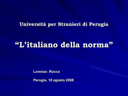 L`italiano della norma