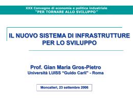 Il nuovo sistema di infrastrutture per lo sviluppo - Ceris-CNR