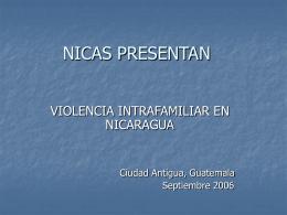 LOS NICAS PRESENTAN: