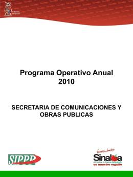 Programa Operativo Anual 2010 SECRETARIA DE