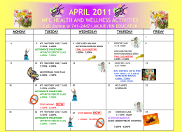 2006 Monthly Calendar - Lloyd F. Moss Free Clinic